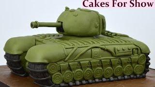 Making a Tank Cake