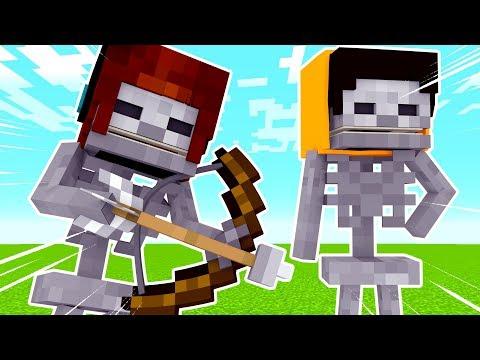 Vida de Mobs #04: COMO É A VIDA DE UM ESQUELETO ?! - Minecraft