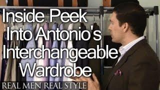 Interchangeable Business Wardrobe - Inside Look Into Antonio