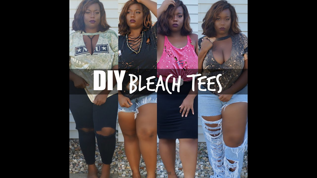 Diy distressed bleach t shirts fashion youtube for How to make a distressed shirt