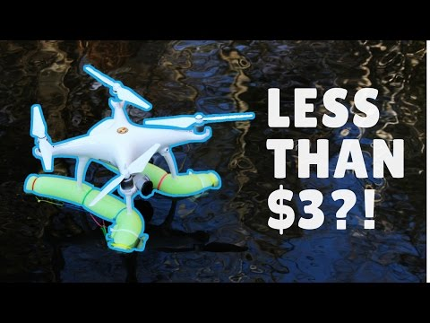 DIY DRONE FLOATING DEVICE (DRONE WILL BE ABLE TO FLOAT/TAKE-OFF/ LAND ON WATER | Alice Lee