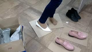 """видео обзор, обувь от faberlic, балетки белые """"Arizu"""""""