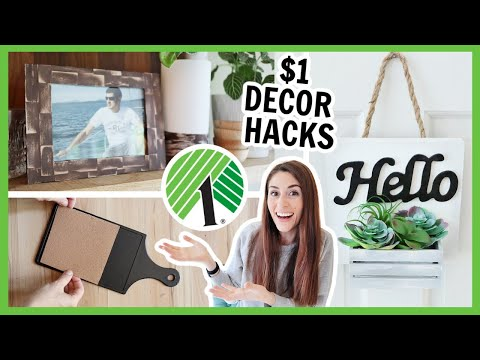 $1 DOLLAR TREE HOME DECOR HACKS | These DIYs Will 🤯