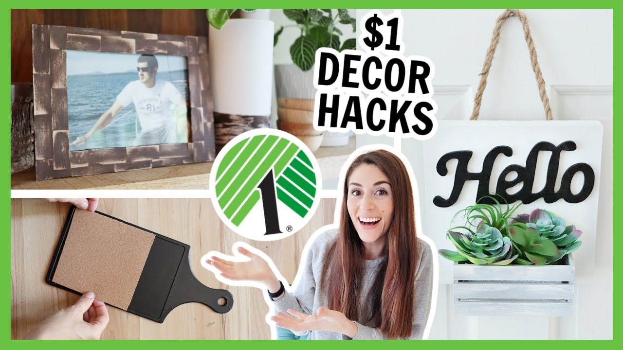 $1 DOLLAR TREE HOME DECOR HACKS | These DIYs will 🤯