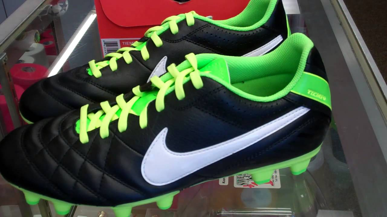 huge discount 7e6d6 bb22e Nike Tiempo Natural IV (Black-White-Electric Green)