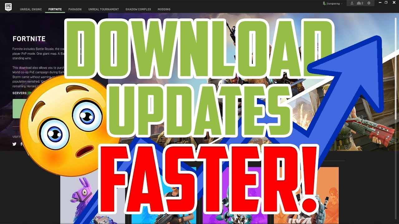 How To Download Fortnite Updates FASTER! (Instant Fix & Super Easy)