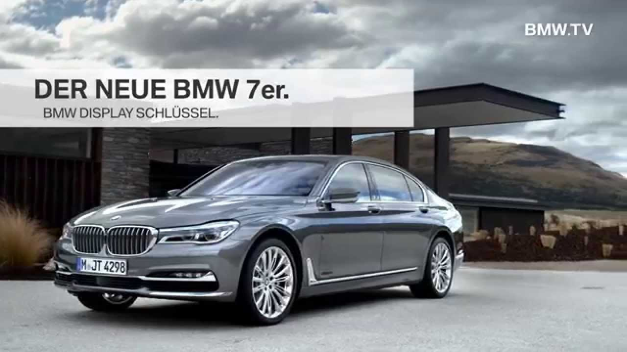 der neue bmw 7er bmw display schl ssel youtube. Black Bedroom Furniture Sets. Home Design Ideas