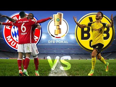 FC BAYERN MÜNCHEN vs BORUSSIA DORTMUND DFB Pokal Halbfinale