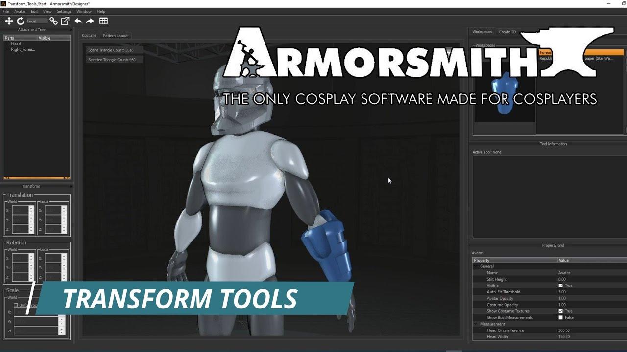 Transform Tools in Armorsmith