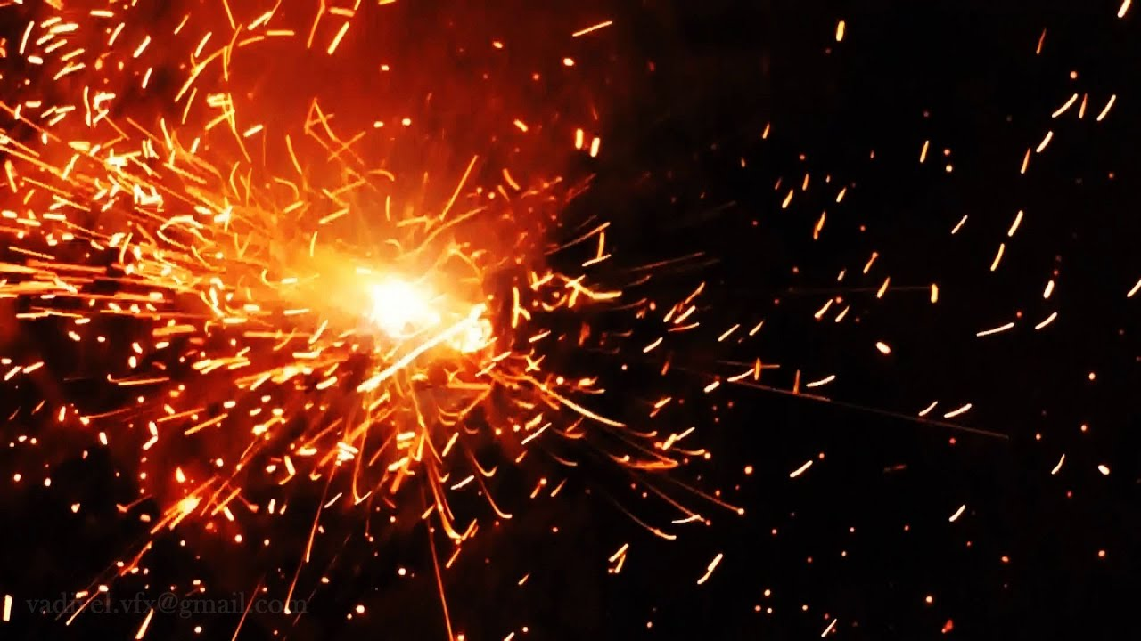 free stock footage hd 1080p -fire spark 012 - youtube
