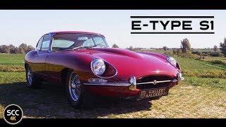 4K - Jaguar E-TYPE S1 4.2 Litre 1968 - E Type test drive in top gear - XK-E engine sound
