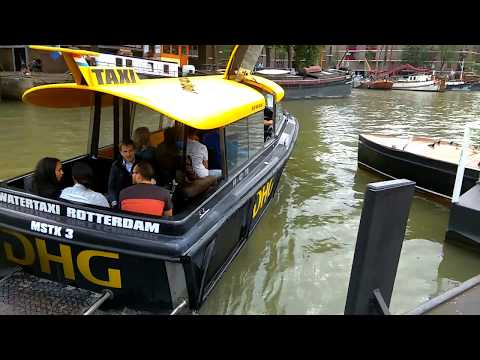 Watertaxi Rotterdam - Station Leuvehaven (FullHD)