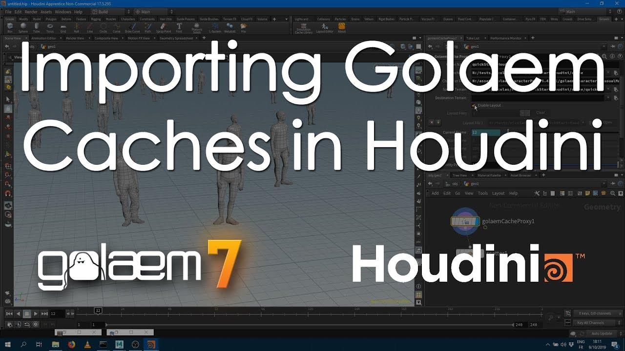 Rendering With Houdini   Golaem