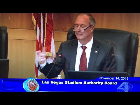 Las Vegas Stadium Authority Meeting Of 11-14-2018 Commentary