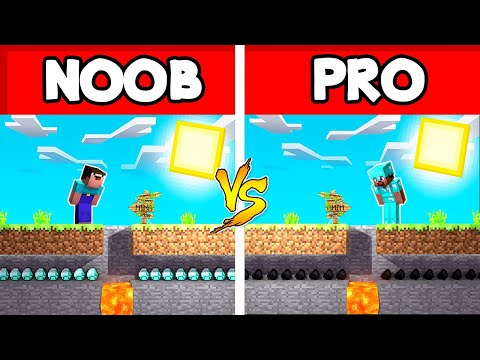 Minecraft NOOB Vs. PRO  SWAPPED TUNNEL In Minecraft Animation (Compilation)