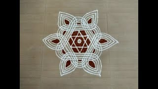 PADI KOLAM/Padi kolam designs/Simple padi kolam with dots/Padi kolam for friday/Padi kolam new/kolam