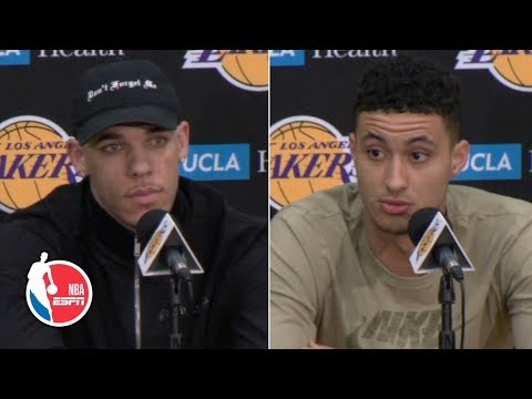 Lonzo Ball, Kyle Kuzma, Lance Stephenson shocked by Magic Johnson's resignation | NBA on ESPN