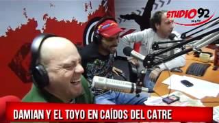 Damian y el Toyo se juntaron con Carlos Galdós en Caídos del Catre