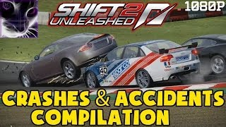 Need for Speed SHIFT 2 - Crashes and Accidents Compilation in 1080p