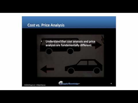Price Analysis Sample Course