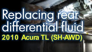 Replacing Rear Differential Fluid - Acura TL 4th gen SH-AWD