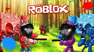 Roblox | RED VS BLUE PAINTBALL CHALLANGE - Paintball War! (Roblox Adventures)