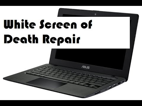 White Screen of Death Repair for Laptop