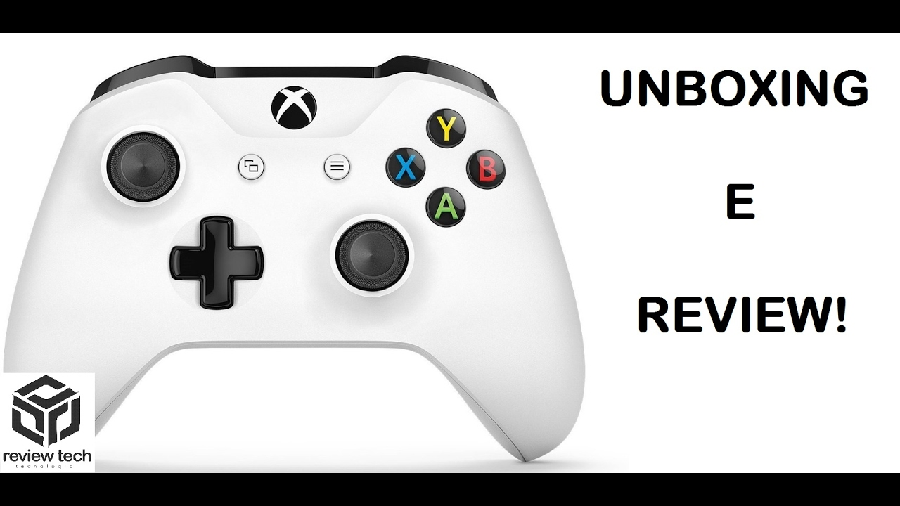 CONTROLE PARA JOGAR NO PC: XBOX ONE S - UNBOXING E REVIEW - YouTube