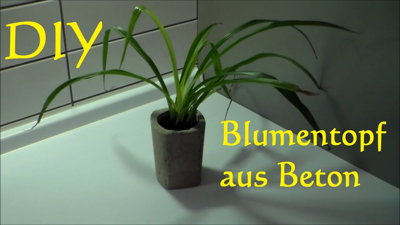 diy blumentopf aus beton selber machen topf blument pfe selber machen aus zement youtube. Black Bedroom Furniture Sets. Home Design Ideas