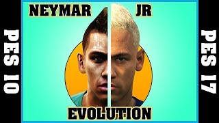Neymar jr evolution [pes 2010 - pes 2017] ⚽