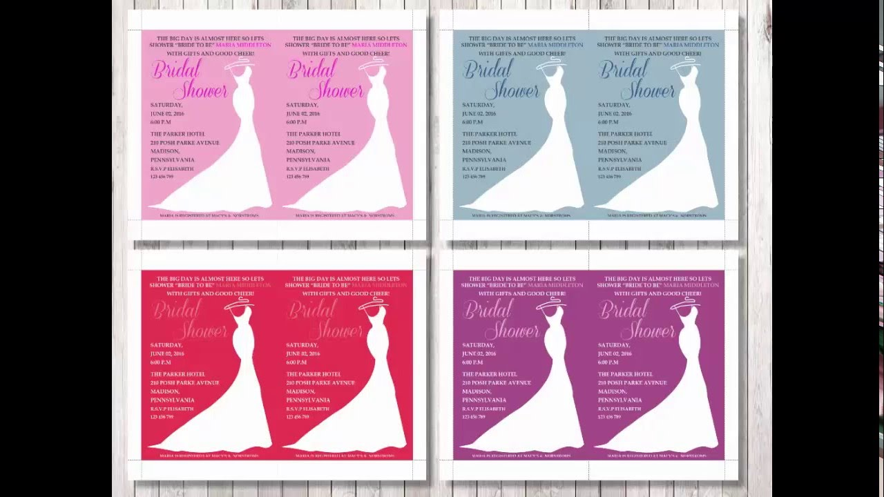 Bridal Shower Invitation Template For Word  Bridal Shower Invitation Templates For Word