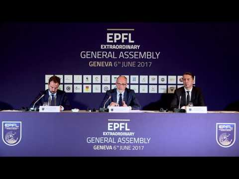 European Football League - Extraordinary General Assembly - Press conference 6th June 2017