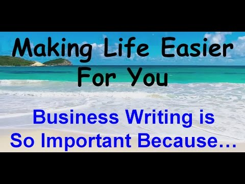 Why Business Writing Is Important