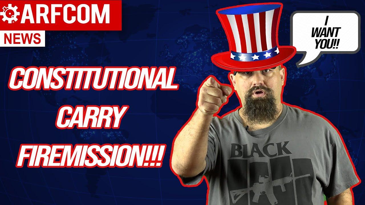 [ARFCOM NEWS] Constitutional Carry FIREMISSION!!! + Is Creepy Joe Really Sleeping On Gun Control?!?