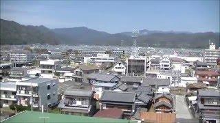 スマイル安芸店(Smile Aki)屋上より安芸市内を一望する。