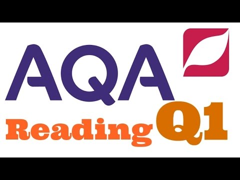 New AQA English Language 8700 Paper 1 Question 1 with Model Answer