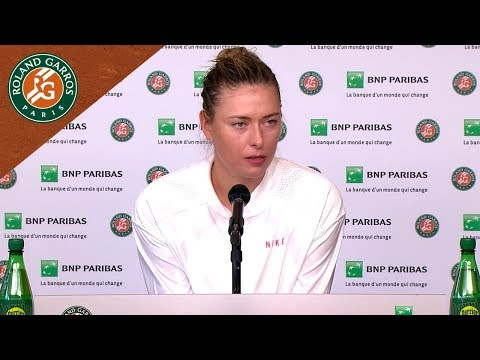 Maria Sharapova - Press Conference after Round 1 I Roland-Garros 2018