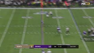 Andrew Sendejo's Incredible Leaping Interception | Saints vs Vikings Divisional Round