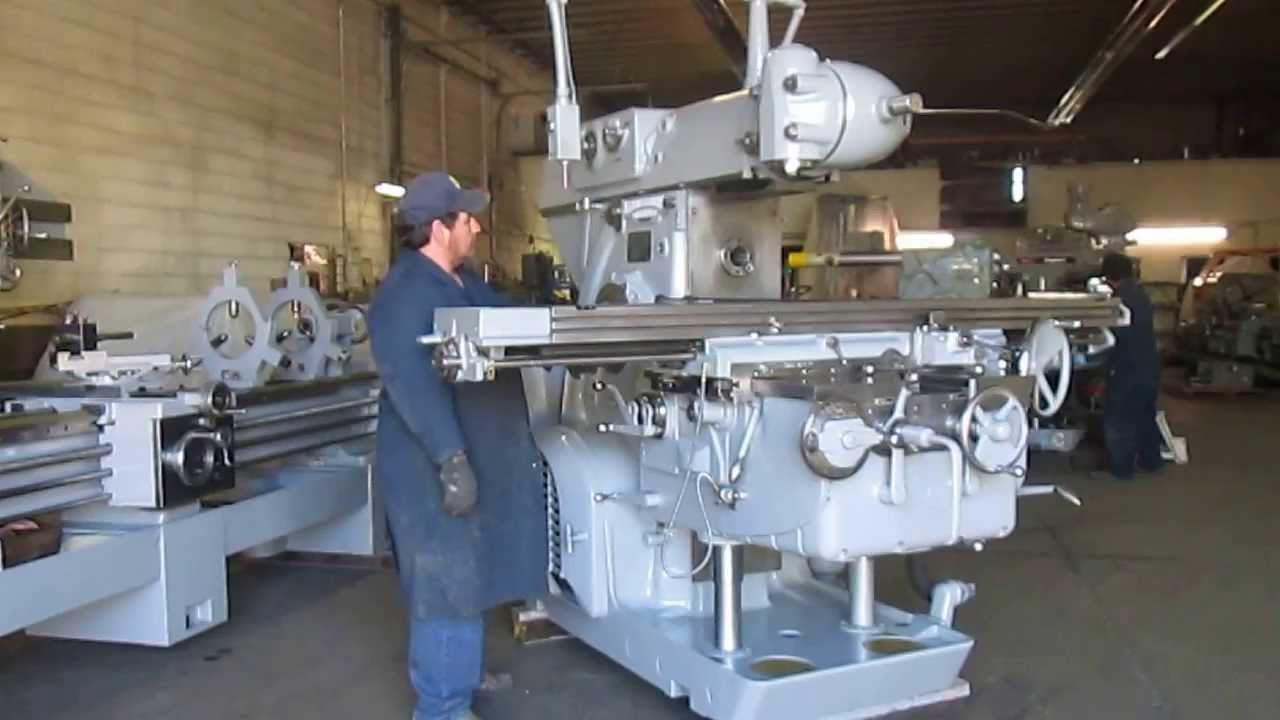 Used Kearney Amp Trecker 415tf Horizontal Mill With Vertical