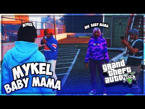 GTA 5 BABY MAMA DRAMA IN DA HOOD EP. 37 - MYKEL BABY MAMA 🤰 (GTA 5 RP)