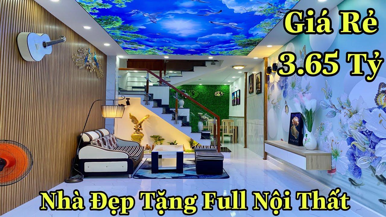 Bán nhà Gò Vấp giá rẻ| Nhà đẹp thiết kế xinh xắn được tặng full nội thất| giá rẻ 3,65 tỷ
