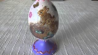 Декупаж: яйцо на подставке