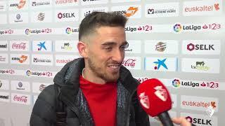 """Kike Barja: """"Ha sido muy emocionante hacer este partido con mi familia y mis amigos en la grada""""."""