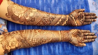 Heavy and Intricate Bridal(Dulhan, Wedding) Mehndi Design for Both Hands 2019 - Shimmi