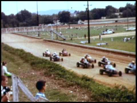 Williams Grove Speedway Midget Car Racing, PA, 1962
