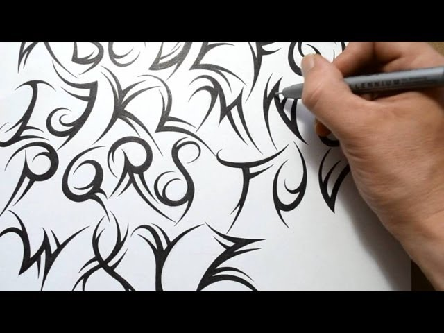 Image Gallery tribal letters