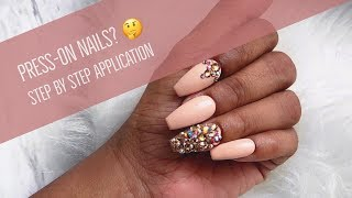 Press-on Nails 🤔 Step by Step Application