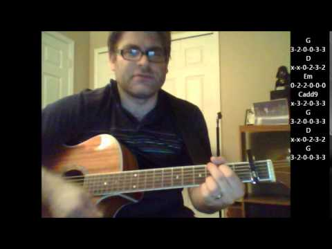 How to play Drink A Beer by Luke Bryan on acoustic guitar