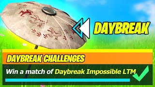 Win a match of Daybreak PE & Escapist UMBRELLA Reward - Fortnite Impossible odds LTM