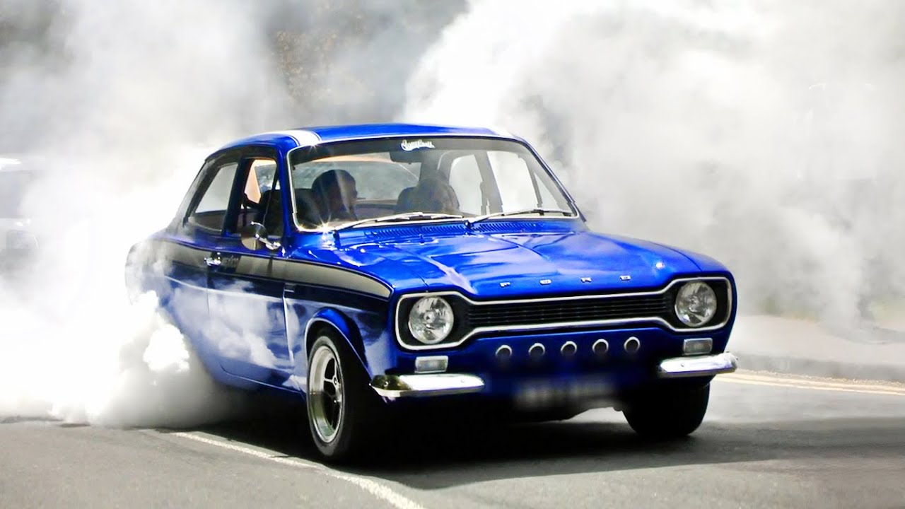 Mk1 Ford Escort Burnout On The Street Youtube